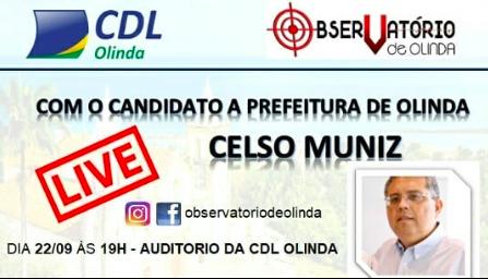 Live candidatos a prefeito de Olinda